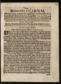 Titelseite der Ausgabe Nr. 4, 15.–18. August 1703