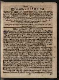 Titelseite der Ausgabe Nr. 30, 14.–15. November 1703