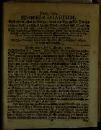 Titelseite der Ausgabe Nr. 149, 3.–6. Jänner 1705