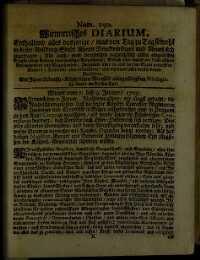 Titelseite der Ausgabe Nr. 150, 7.–9. Jänner 1705