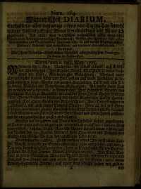 Titelseite der Ausgabe Nr. 184, 6.–8. Mai 1705