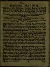 Titelseite der Ausgabe Nr. 223, 19.–22. September 1705