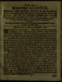 Titelseite der Ausgabe Nr. 224, 23.–25. September 1705
