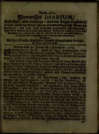 Titelseite der Ausgabe Nr. 261, 30. Jänner–2. Februar 1706