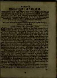 Titelseite der Ausgabe Nr. 262, 3.–5. Februar 1706