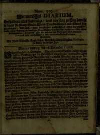 Titelseite der Ausgabe Nr. 355, 25.–28. Dezember 1706