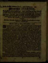 Titelseite der Ausgabe Nr. 356, 29.–31. Dezember 1706
