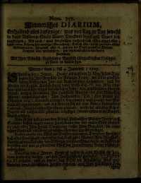 Titelseite der Ausgabe Nr. 357, 1.–4. Jänner 1707
