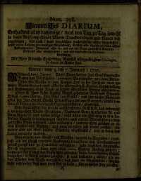 Titelseite der Ausgabe Nr. 358, 5.–7. Jänner 1707