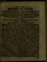 Titelseite der Ausgabe Nr. 382, 30.–1. April 1707