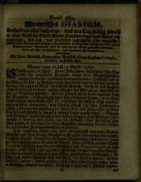 Titelseite der Ausgabe Nr. 387, 16.–19. April 1707