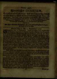 Titelseite der Ausgabe Nr. 447, 12.–15. November 1707