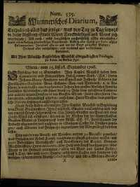 Titelseite der Ausgabe Nr. 535, 15.–18. September 1708