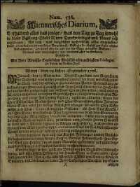 Titelseite der Ausgabe Nr. 536, 22. September 1708