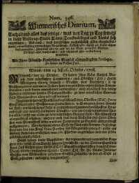 Titelseite der Ausgabe Nr. 546, 27. Oktober 1708