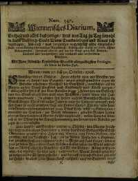 Titelseite der Ausgabe Nr. 547, 31. Oktober 1708