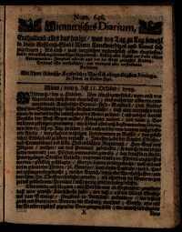 Titelseite der Ausgabe Nr. 646, 9.–11. Oktober 1709