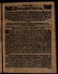 Titelseite der Ausgabe Nr. 656, 13.–15. November 1709