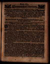Titelseite der Ausgabe Nr. 663, 7.–10. Dezember 1709