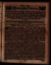 Titelseite der Ausgabe Nr. 664, 11.–13. Dezember 1709