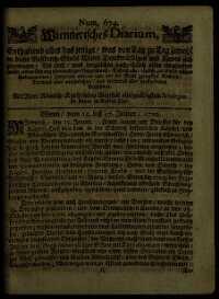 Titelseite der Ausgabe Nr. 674, 15.–17. Jänner 1710