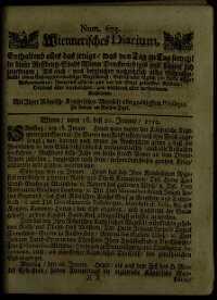 Titelseite der Ausgabe Nr. 675, 18.–21. Jänner 1710