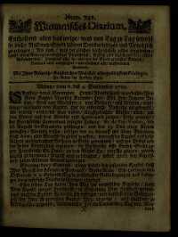 Titelseite der Ausgabe Nr. 741, 6.–9. September 1710