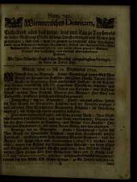 Titelseite der Ausgabe Nr. 742, 10.–12. September 1710