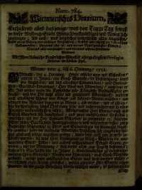 Titelseite der Ausgabe Nr. 784, 4.–6. Februar 1711