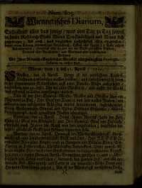 Titelseite der Ausgabe Nr. 805, 18.–21. April 1711
