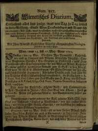 Titelseite der Ausgabe Nr. 917, 14.–17. Mai 1712