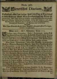 Titelseite der Ausgabe Nr. 967, 5.–8. November 1712