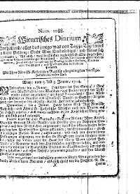 Titelseite der Ausgabe Nr. 1088, 3.–5. Jänner 1714