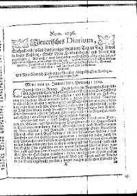 Titelseite der Ausgabe Nr. 1096, 31. Jänner–2. Februar 1714