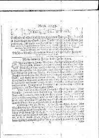 Titelseite der Ausgabe Nr. 1243, 3. Juli 1715
