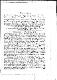 Titelseite der Ausgabe Nr. 1244, 6. Juli 1715