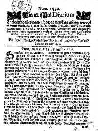 Titelseite der Ausgabe Nr. 1359, 8.–11. August 1716