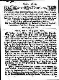 Titelseite der Ausgabe Nr. 1661, 1.–4. Juli 1719