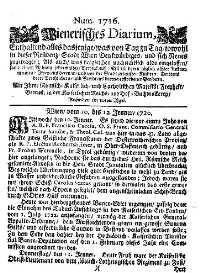 Titelseite der Ausgabe Nr. 1716, 10.–12. Jänner 1720