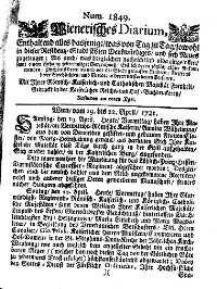 Titelseite der Ausgabe Nr. 1849, 19.–22. April 1721