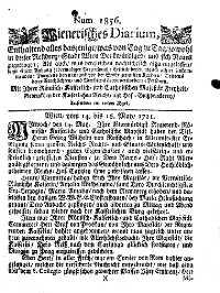 Titelseite der Ausgabe Nr. 1856, 14.–16. Mai 1721