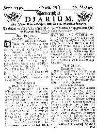 Titelseite der Ausgabe Nr. 25, 29. März 1730