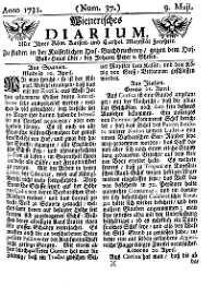 Titelseite der Ausgabe Nr. 37, 9. Mai 1731