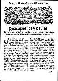 Titelseite der Ausgabe Nr. 79, 3. Oktober 1759