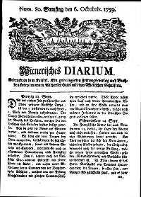 Titelseite der Ausgabe Nr. 80, 6. Oktober 1759