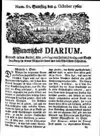 Titelseite der Ausgabe Nr. 80, 4. Oktober 1760