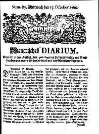 Titelseite der Ausgabe Nr. 83, 15. Oktober 1760