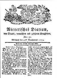 Titelseite der Ausgabe Nr. 51, 24. Juni 1772