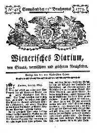 Titelseite der Ausgabe Nr. 47, 12. Juni 1773