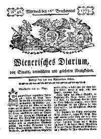 Titelseite der Ausgabe Nr. 48, 16. Juni 1773